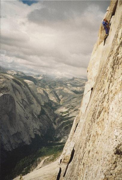 Rock Climbing Photo: Thank god ledge