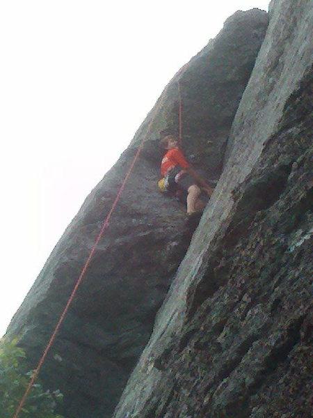 Gavin climbing