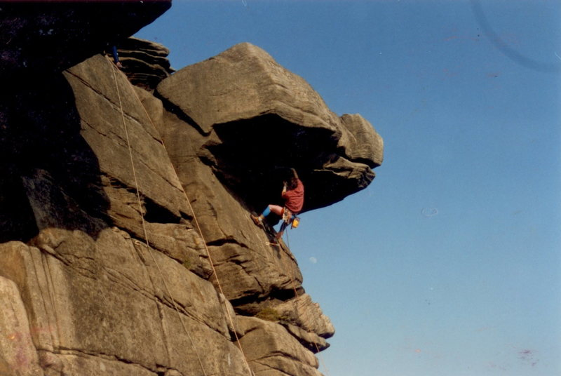 Quietus on Stanage Edge, England