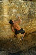 Rock Climbing Photo: V5 in Kelly Canyon