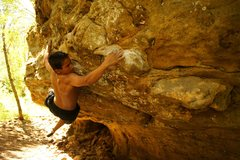 Rock Climbing Photo: Trying to put together a V8 traverse