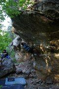 Rock Climbing Photo: Shootin a throw on Dope Lounge V5