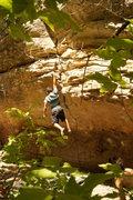 Rock Climbing Photo: V2 one arm hang