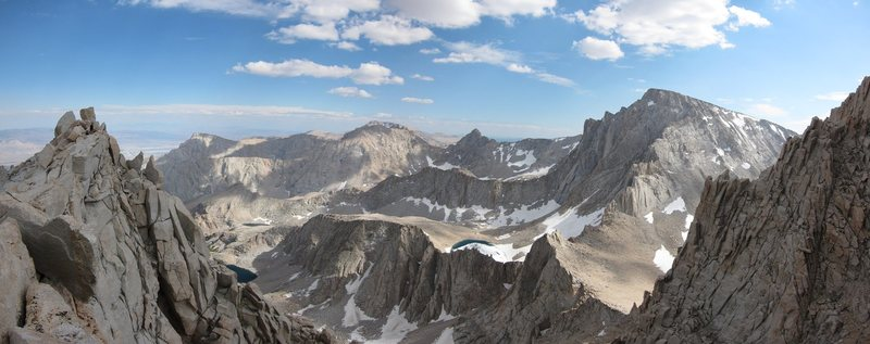 Rock Climbing Photo: Mount Whitney from the East Ridge of Russell.  Not...
