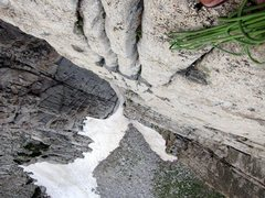 Rock Climbing Photo: looking down on pitch 3 of FMAF.  great chicken he...