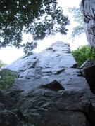 Rock Climbing Photo: This is the tall face on the south side of the rid...