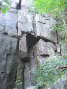 Rock Climbing Photo: Crack on left side of pic. Lay it back with your b...