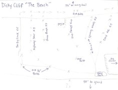Rock Climbing Photo: this is a topo of all the routes in The Beach area...