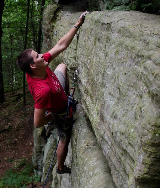 Rock Climbing Photo: Nate climbing 10a at Necedah