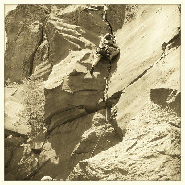 Rock Climbing Photo: Halfway there