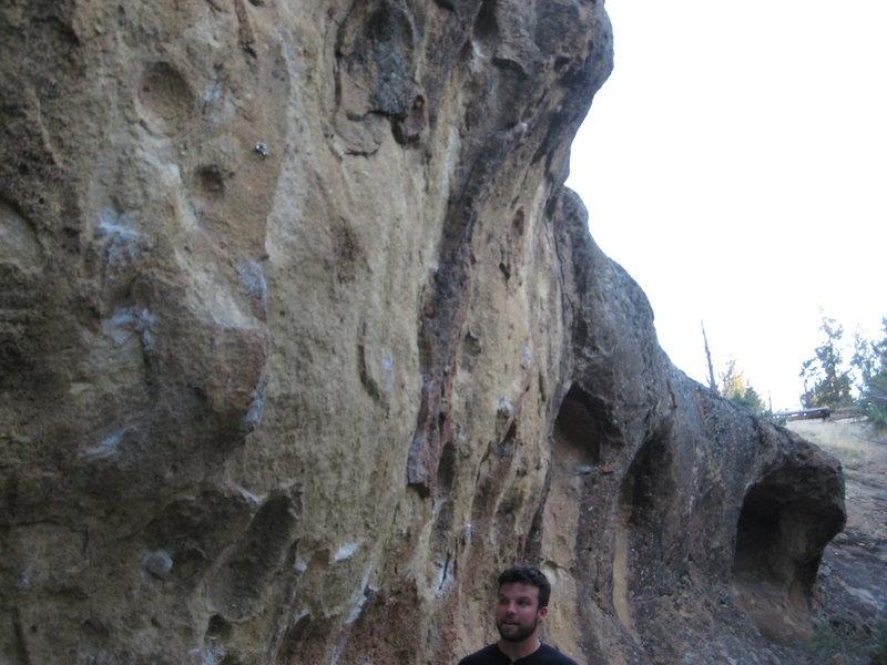 Bivy wall boulder