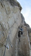 Rock Climbing Photo: Mike heading into the OW section on P6