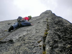 "Rock Climbing Photo: Headed up off ""the edge"" belay.  P12.  H..."
