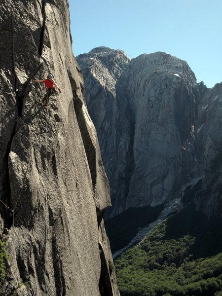 Rock Climbing Photo: Nate Conroy on Humpty Dumpy 5.11b in the Trinidad ...