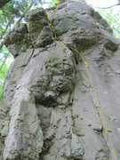 Rock Climbing Photo: The general run of the route. Unfortunately, you c...