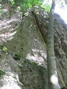 Rock Climbing Photo: The lieback portion of Zölibat.