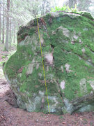 Rock Climbing Photo: Try not to destroy the moss too much if you ever c...