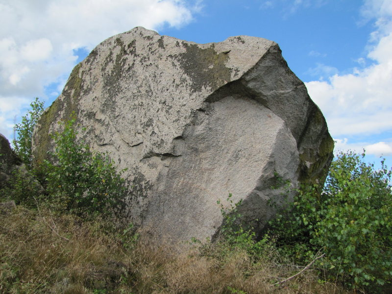 An as-yet unclimbed boulder.