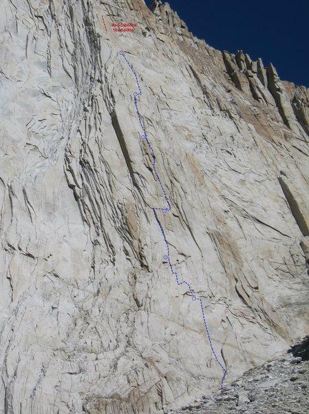 Rock Climbing Photo: Lost in the Sun - Photo Topo