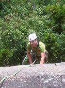 Rock Climbing Photo: Jim Dickson Climbing Pitch one