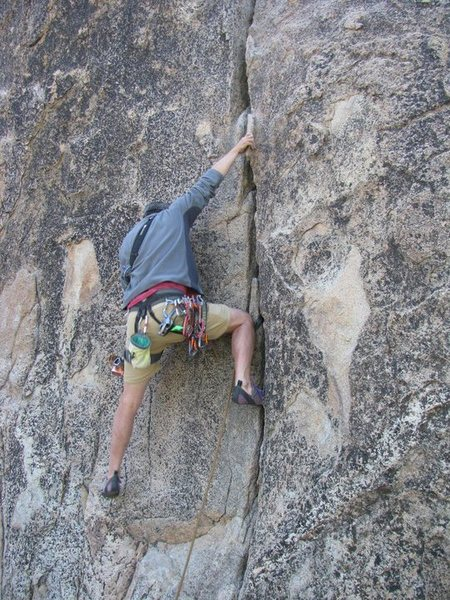 Rock Climbing Photo: Jason comfortably looking for a pro for his first ...
