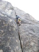 Rock Climbing Photo: Jason moving up and looking for his 2nd placement ...
