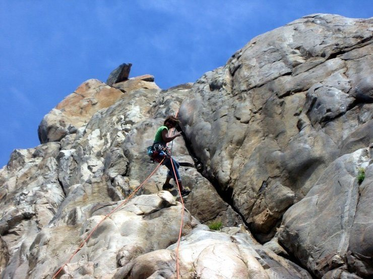 Rappelling off beautiful. My very 1st trad lead route. On this day was my second time leading it.