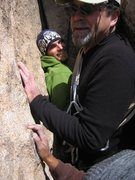 Rock Climbing Photo: Tight quarters. 1st pitch belay ledge.