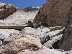 Rock Climbing Photo: Me climbing up onto the 2nd pitch where the boys w...