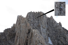 Rock Climbing Photo: On the way to the East Summit via the East Ridge. ...
