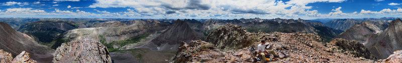 Rock Climbing Photo: Summit shot from West Trinity.