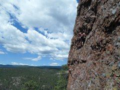 Rock Climbing Photo: Cody G. progressing on the 10+/11 option.