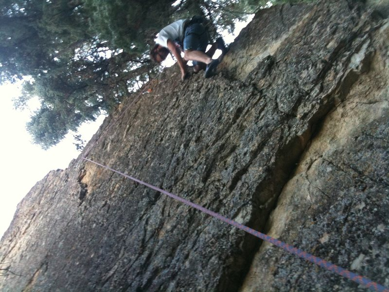 Jeff Climbing One Foot Bare Foot