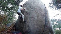 Rock Climbing Photo: Fun face climb left of Elephant's Trunk crack