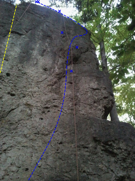 Rock Climbing Photo: Blue is Feenwald. Note that I couldn't see the upp...