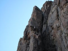 Rock Climbing Photo: Pulling into the splitter fingers.