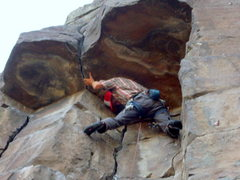 Rock Climbing Photo: Reggie getting ready for the business . . .