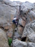 Rock Climbing Photo: Malia on the Crack Of Dust