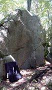 Rock Climbing Photo: Face Problem Boulder