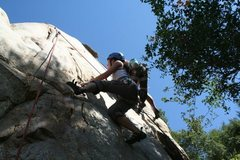 Rock Climbing Photo: Jennifer on Double D's. I am on the right climbing...