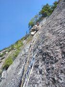 """Rock Climbing Photo: """"Europa"""", pitch 6"""