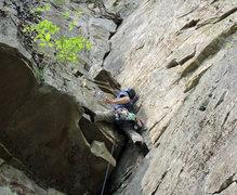 Rock Climbing Photo: John Bell on Linda's Corner