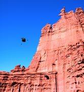 Rock Climbing Photo: BASE jump off ancient art.
