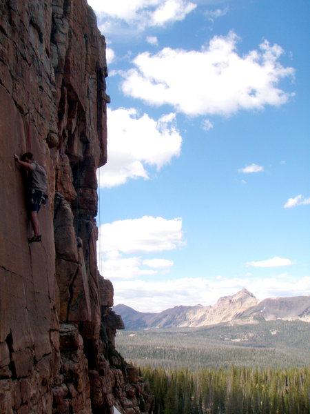 Rock Climbing Photo: Dave 'Gramps' Shiembob lacing the bouldery crux on...