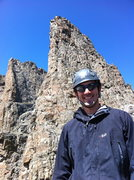 Rock Climbing Photo: Sharkstooth towering above the summit.