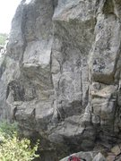 Rock Climbing Photo: The full Brenda, showing the lower cave and moving...