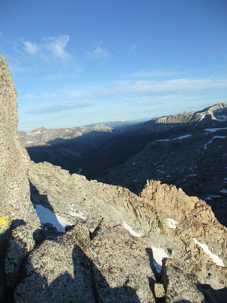 Rock Climbing Photo: starting up 13,360