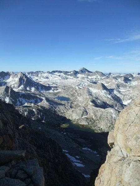 Evolution Basin from the ridge