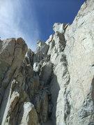 Rock Climbing Photo: looking back at the chimney section between Darwin...