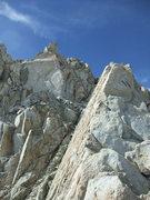 Rock Climbing Photo: golden slab between Darwin and 13,332